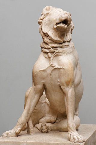 Molossian dog, Roman copy of 2nd century BC Hellenistic original - British Museum - photo: Marie-Lan Nguyen (CC BY 2.5) <http://commons.wikimedia.org/wiki/File:Molossian_hound_BM_GR2001.10-10.1_n02.jpg>