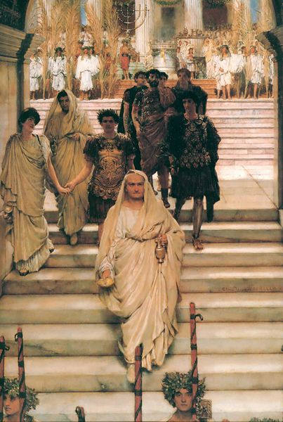 The Flavian dynasty portrayed by Lawrence Alma-Tadema, The Triumph of Titus (1885)