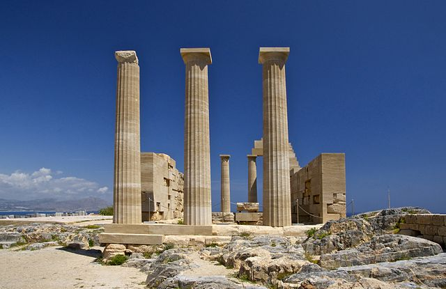 Temple of Athena at Lindus - photo: Jebulon, Wikimedia Commons <http://commons.wikimedia.org/wiki/File:Athena_Lindos_temple.jpg>
