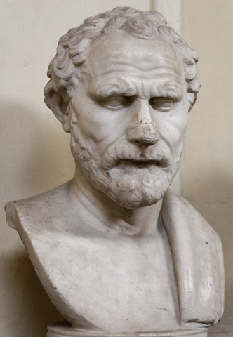 Demosthenes, Musei Vaticani - photo by Marie-Lan Nguyen, Wikimedia Commons ('Jastrow') <http://commons.wikimedia.org/wiki/File:Demosthenes_Chiaramonti_Inv1555.jpg>