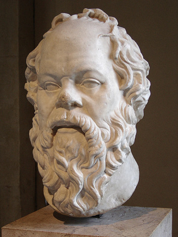 Socrates, Louvre - photo by Eric Gaba, Wikimedia Commons ('Sting') <http://commons.wikimedia.org/wiki/File:Socrates_Louvre.jpg>