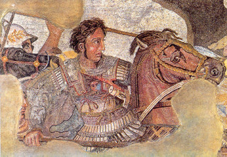 Alexander de Grote - foto: Wikimedia Commons <http://commons.wikimedia.org/wiki/File:BattleofIssus333BC-mosaic-detail1.jpg>